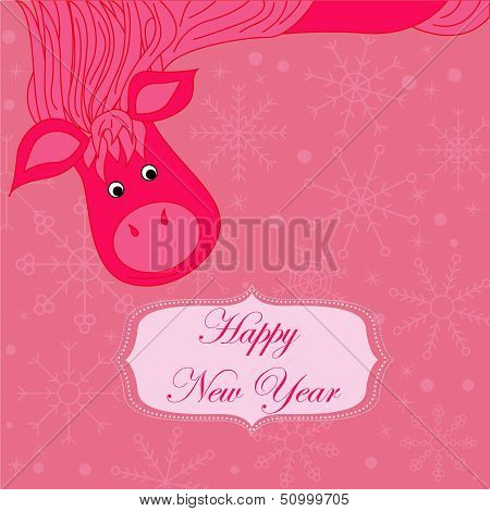 new year background with hourse