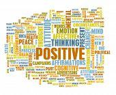 Think Positive as an Attitude Abstract Concept poster