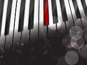 Music concept with piano, can be use as flyer, poster, banner or background for musical parties and concert.  poster