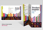 Brochure booklet z-fold layout. Editable design template. EPS10 vector transparencies used. poster