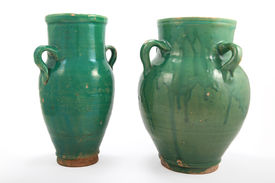 Green Clay Jug