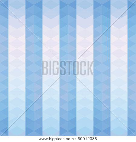 Blue Triangles Striped Pattern