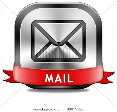 mail box or e-mail button or icon
