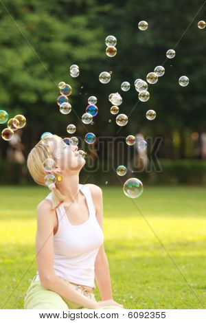Blonde And Soap Bubbles