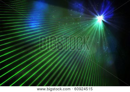 Digitally generated laser background in green poster