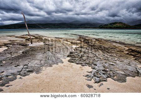 Dramatic South Pacific landscape