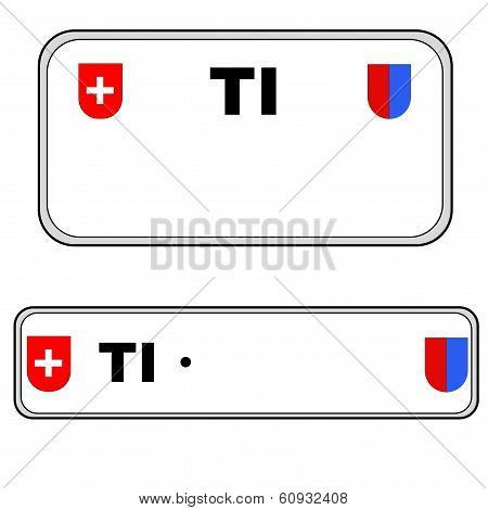 Ticino plate number, Switzerland
