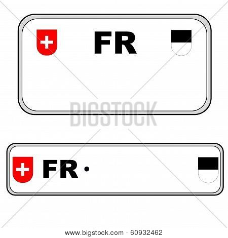 Fribourg plate number, Switzerland