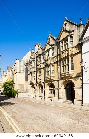 old stone house on the corner of Magpie Lane and Merton Street, Oxford, Oxfordshire, England