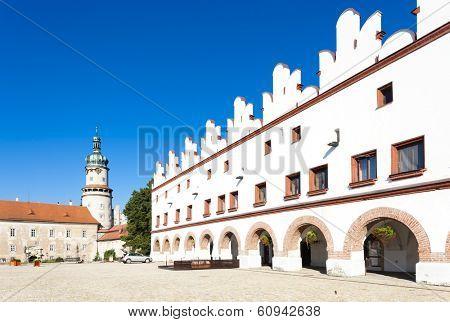 Castle of Nove Mesto nad Metuji with Husovo Square, Czech Republic