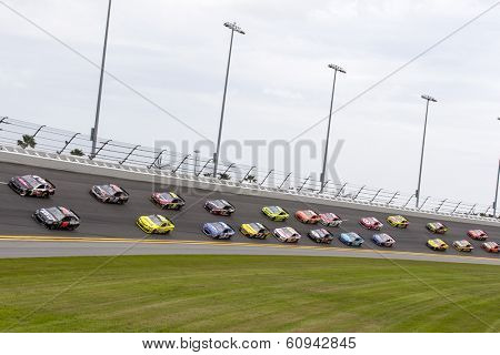 Daytona Beach, NC - Feb 23, 2014:  The NASCAR Sprint Cup Series teams take to the track for the 56th Annual Daytona International Speedway at Daytona International Speedway in Daytona Beach, NC.