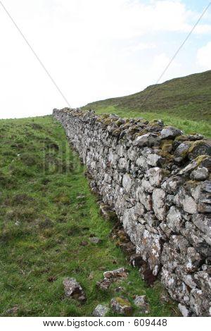 Stone Wall Isle Of Skye, Scotland