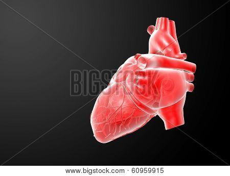 3d render red Heart