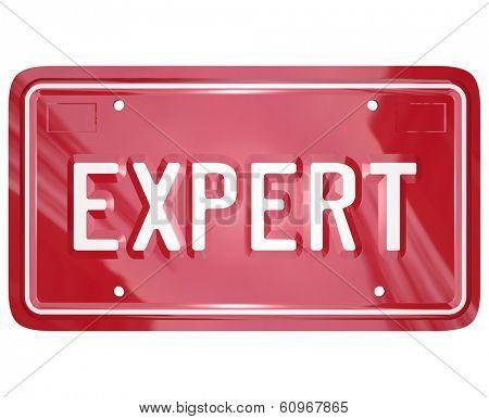 Expert Word License Plate Mechanic Technician Engineer Skills