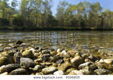 Nestos river and canyon at Thrace, Greece poster