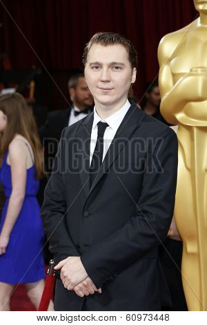 LOS ANGELES - MAR 2: Paul Dano  at the 86th Annual Academy Awards at Hollywood & Highland Center on March 2, 2014 in Los Angeles, California