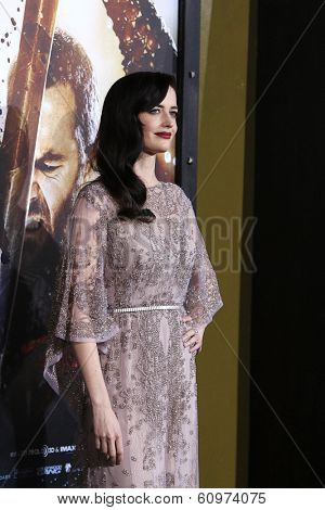 LOS ANGELES - MAR 4: Eva Green at the Premiere of '300: Rise Of An Empire' held at TCL Chinese Theater on March 4, 2014 in Los Angeles, California