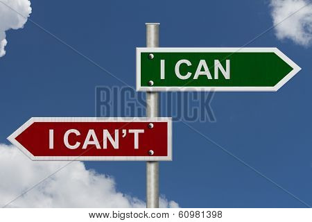 I Can Versus I Can't