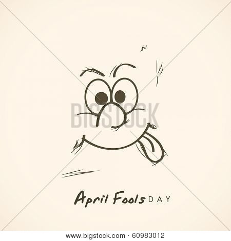 Happy Fool's Day funky concept with stylish funny text on abstract background. poster