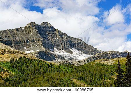 Hidden Glacier On A Jagged Peak