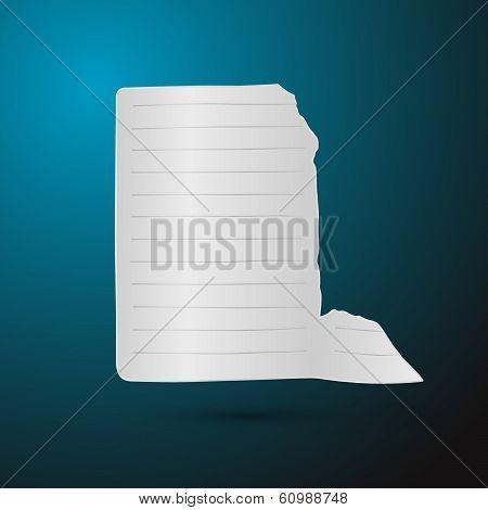 3d Paper sheet on blue background - Vector Illustration