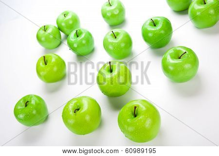 Close-up Of An Apple Green