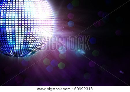 Digitally generated disco ball on black background