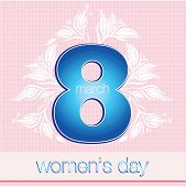 8 March International Women's Day greeting card poster