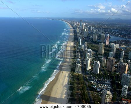 Afternoon Flight Over Gold Coast