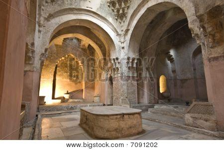Bey hamam bath historic building at Thessaloniki city in Greece