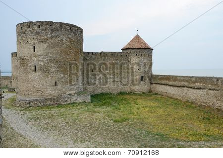 Bastion And Court Tower In Ancient Fortress Akkerman In Belgorod-dnestrovsky City, Ukraine,europe