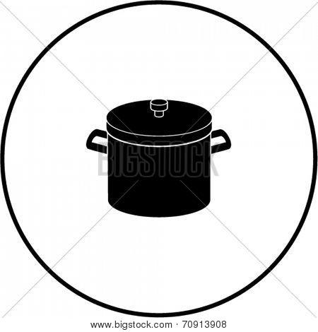 stockpot with lid symbol
