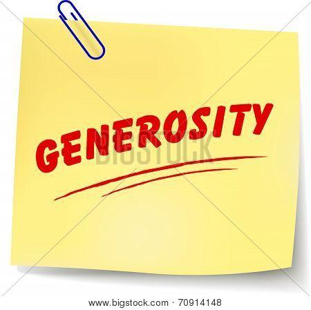 Generosity Message