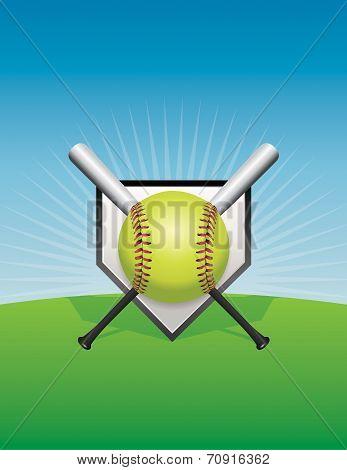 Softball Background Illustration