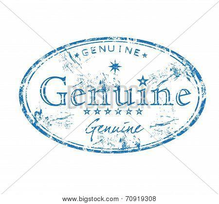 Genuine grunge rubber stamp