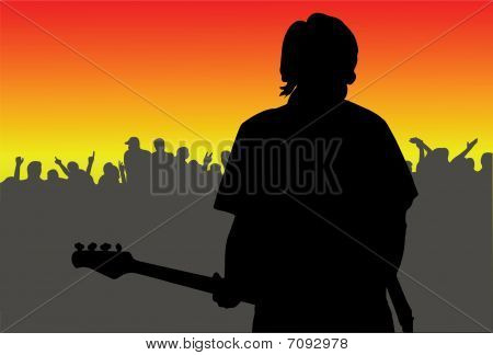 musician appears on stage