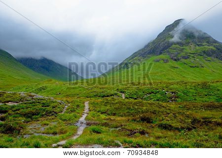 Bad weather at Glen Coe