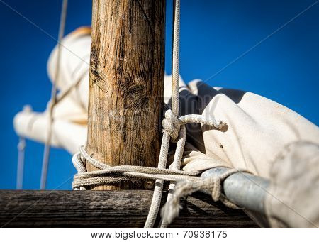 Old Boat Mast and Knot