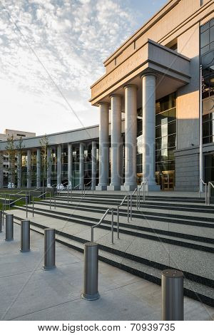 Entrance To Colorado Supreme Court Denver