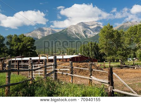 Farmyard And Stable By Mt Princeton Co