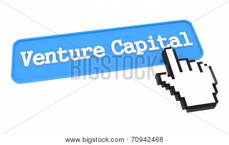 Venture Capital Button with Hand Cursor. Business Concept. poster