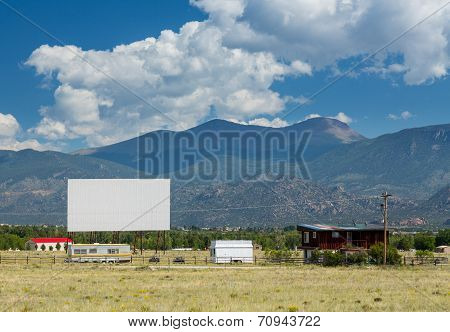 Traditional american drive in cinema or theater in Buena Vista Colorado that still shows movies several nights a week poster