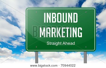 Inbound Marketing on Highway Signpost.