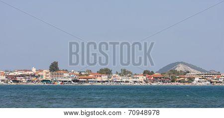 Coast Of Laganast On Zakynthos Island