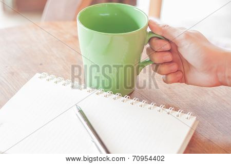 Coffee Time In Coffee Shop