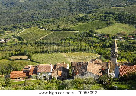 Motovun Village In Croatia, Europe