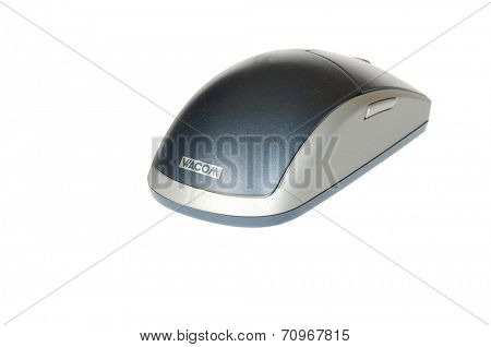 Hayward, CA - August 21, 2014: Wacom mouse for use with a Wacom tablet