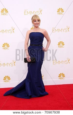 LOS ANGELES - AUG 25:  Melissa Rauch at the 2014 Primetime Emmy Awards - Arrivals at Nokia at LA Live on August 25, 2014 in Los Angeles, CA