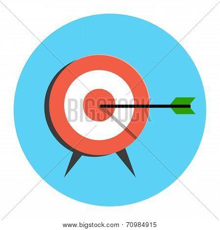 Target Icon. Flat Style Illustration.