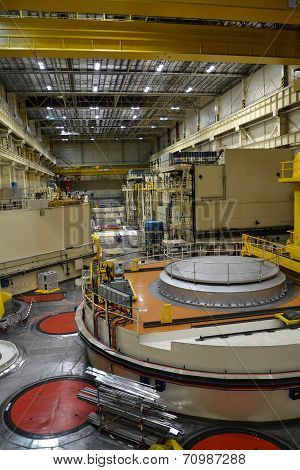 Nuclear Reactor Hall In A Power Plant